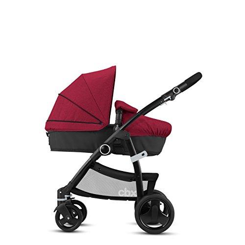 cbx 2-in-1 Kombikinderwagen Leotie Flex mit wendbarem Komfortsitz/Kinderwagenaufsatz, Inkl. Regenverdeck, Ab Geburt bis 15 kg, Crunchy Red