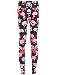 4ebbd60044511f Lannister Fashion Damen Leggings Totenkopf Gedruckt Skinny Stretch  Bekleidung Yogahose Hochbund Sport Fitness Trousers Trainingshose