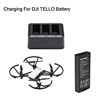 JIANGfu For DJI TELLO 3 in 1 Multi Smart Battery Charger Hub Batteries Charging
