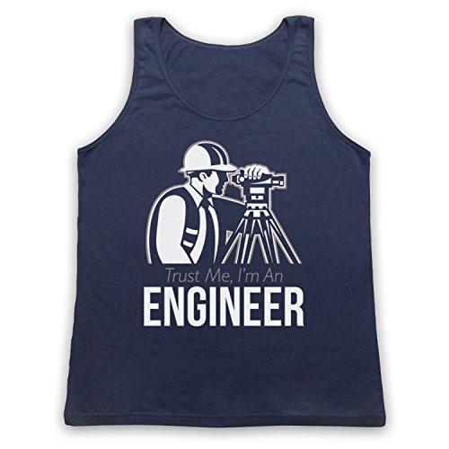 Trust Me I'm An Engineer Funny Work Slogan Tank-Top Weste Ultramarinblau