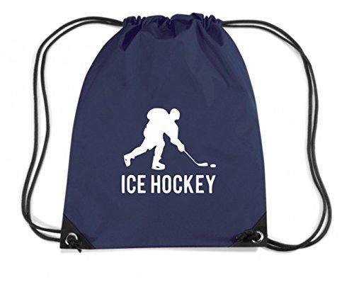 T-Shirtshock - Zaino Zainetto Budget Gymsac SP0087 Ice Hockey Sports Maglietta, Taglia Capacita 11 litri