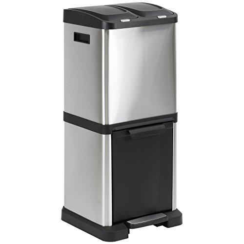 *Hartleys – Mülltrennsystem mit 3 Mülleimern – aus Edelstahl*