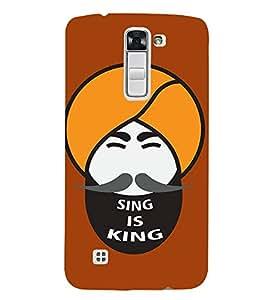 FIOBS human face animation singh is king punjab Designer Back Case Cover for LG K7 :: LG K7 Dual SIM :: LG K7 X210 X210DS MS330 :: LG Tribute 5 LS675