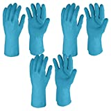 #6: Primeway Rubberex Superior Silverlined Rubber Hand Gloves, Large, 3 Pairs, Blue