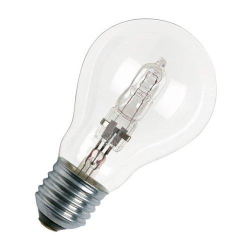 Osram Classic A Halogen-Lampe, E27-Sockel, dimmbar, 46 Watt - Ersatz für 60 Watt, Warmweiß - 2700K -