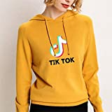 LQWWW Tee Shirt Musique Motif Sweat-Shirts À Manches Longues d'hiver Mode Hoody Sport,Jaune,L