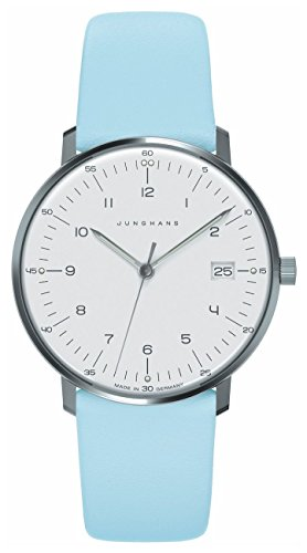 Junghans 047/4254.00 – Wristwatch women's, Leather Strap Blue