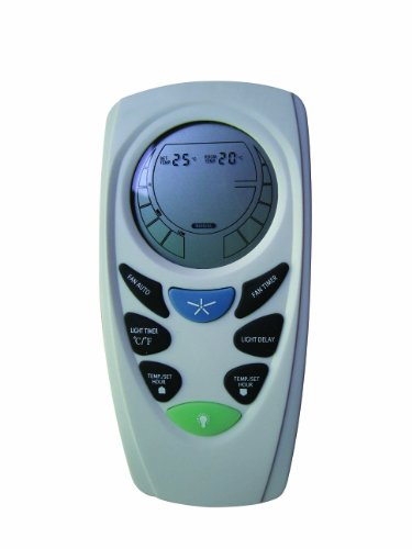 LUCCI AIR 210013 LCD Remote Control for Ceiling Fans with lots of Extra Features such as Temperature Indicator and Timer