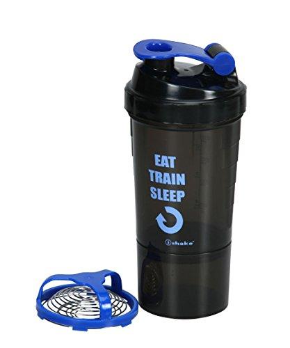 IShake speed 1 storage blue shaker bottle  available at amazon for Rs.263