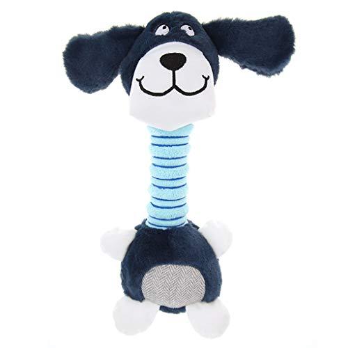 TUDUZ Sound Plüsch Hundespielzeug, Plüsch Interaktive Hundespielzeug und Hundezahnreinigung, Geeignet für Große, Mittlere und Kleine Hunde oder Katzen (Blau)