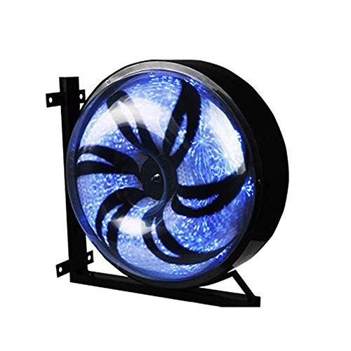 YUUK%J Draussen Barbierstab LED-Streifen, Beleuchtende Rotierende Friseurstange Schönheitssalon Schild Wasserdichte Wandleuchte 42cm,C