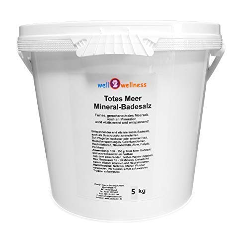 Meer Mineral Badesalz (Totes Meer Mineral Badesalz/Saunasalz grob 5,0 kg - 100% naturrein aus dem Toten Meer)