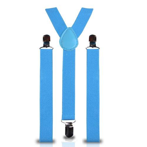 Shukan Fashions - Bretelles - Homme Bleu Turquoise