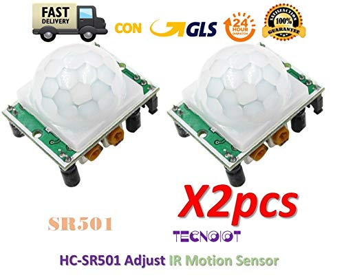 2pcs SR501 HC-SR501 HCSR501 Adjust IR Motion Sensor|2 Stück SR501 HC-SR501 HCSR501 Justiert den IR-Bewegungssensor - Ir-booster