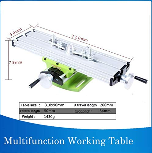 WANGYONGQI Compound-Tisch Arbeits-Kreuzschlitten-Tisch Arbeitstisch zum Fräsen Bohrbank Multifunktions verstellbar X-Y -