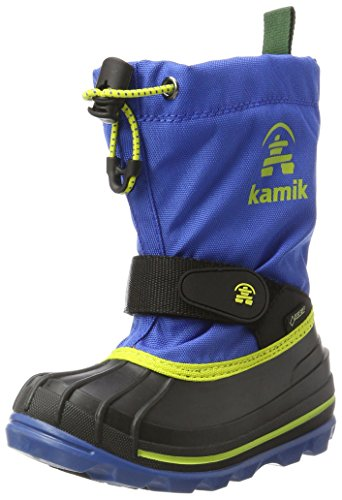 Kamik Unisex-Kinder Schneestiefel WATERBUG8G, Blau (Blue/Sulphur), 37 EU  (5 US)