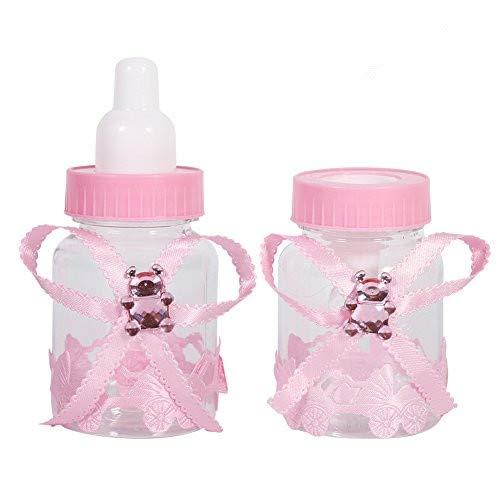 GLOGLOW 2 Farben 50 Stücke Süßigkeiten Schokolade Flaschen Box, Süßigkeiten Geschenkbox für Baby Shower Party Favors Geschenke Dekorationen(Rosa)