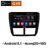 Ownice Quad Core 9 Zoll Android 8.1 Auto Radio Player GPS Navigation für Subaru Forester XV WRX 2008 2009-2012 unterstützt Bluetooth WiFi Radio Mirror Link 2G RAM