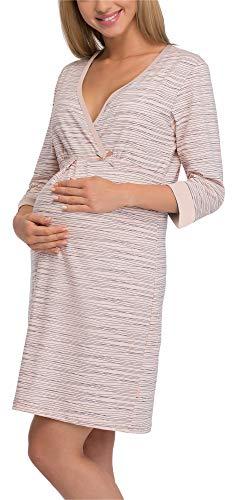 Cornette camicia da notte premaman 652/21 (albicocca/blu scuro, xl)