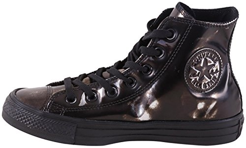 Converse Chuck Taylor All Star Shearling Leather Hi, Baskets mode mixte adulte Black Gunmetal Brush Off