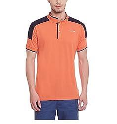 Yepme Men's Orange Cotton Polos - YPMPOLO0445_XL