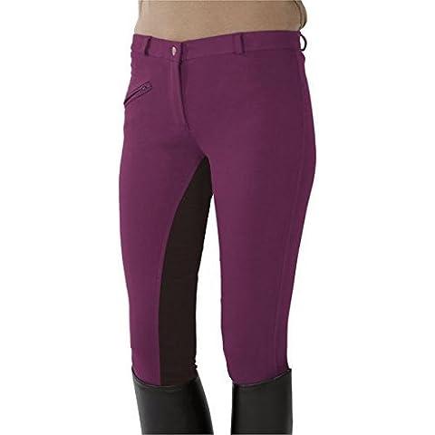 PFIFF - Pantaloni da equitazione, Rosa (Fuchsia-Braun), 38