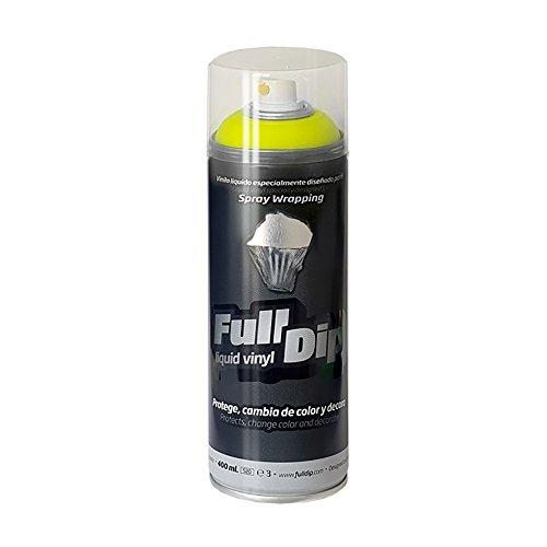FullDip FLD0401 Vinilo Líquido, Amarillo Flúor, 400 ml