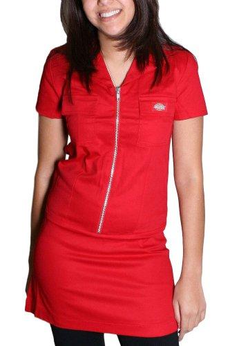 Reißverschluss vorne Kleid in Rot, X-Large, Red (Annie Roten Kleid)