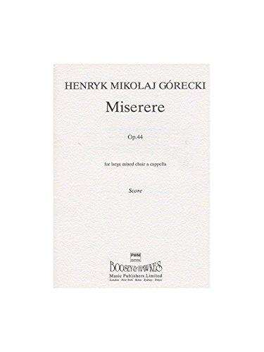 Henryk Gorecki: Miserere Op.44 (Vocal Sc...