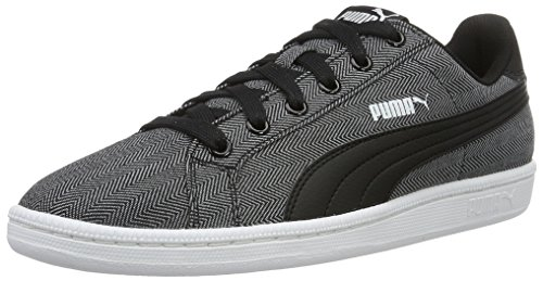 Puma Smash Herringbone, Sneakers Basses Mixte Adulte Noir (Puma Black-puma Black 02)