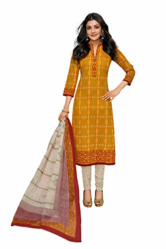Miraan Printed Unstitched Cotton Dress Material And Churidar Suit For Women (RI629)
