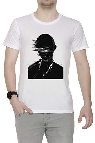 Estático Fantasma - Fantasma Hombre Camiseta Cuello Redondo Blanco Manga Corta Tamaño S Men's White Small Size S