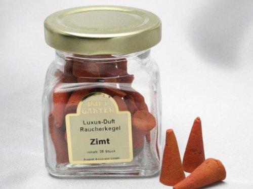 Incienso fragancias de lujo de canela, 35 piezas en un vaso