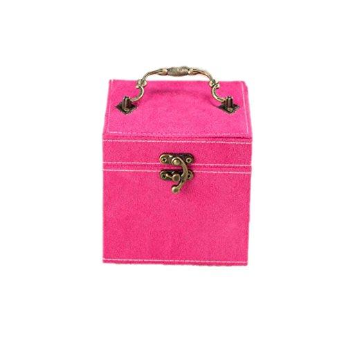 Floccaggio panno portatile cosmetico di trucco Jewelry Bag Box Watch