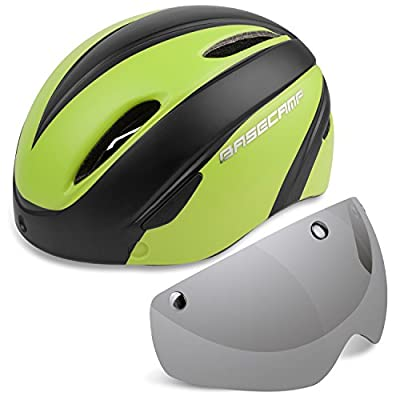 Cycle helmets,LEADFAS Bike Cycling Helmet with Detachable Magnetic Goggles Visor Shield Adjustable Unisex Men Women Road Mountain Safety Protection Biking Bicycle Helmet by Kinglead