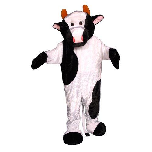 Dress Up America Kuh-Maskottchen-Kostüm des weißen u. Schwarzen ()