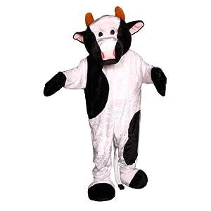 Dress up America Disfraz de Mascotaa de Vaca de Adulto Blanco y Negro