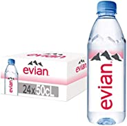 evian Natural Mineral Water 500ml, Case of 24