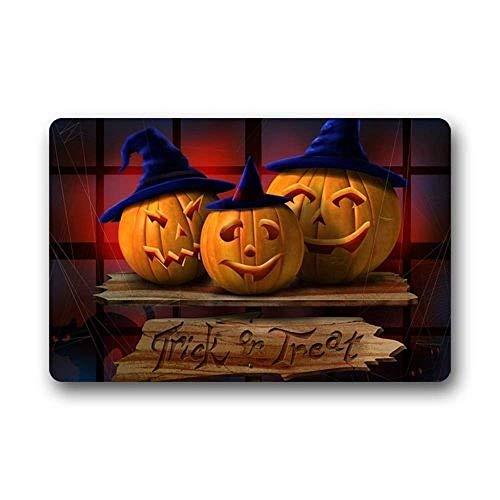 Wolanim Hi,Doormat Happy Halloween Pumpkin Indoor/Outdoor Non-Slip Rubber Doormats Door Mat (L23.6