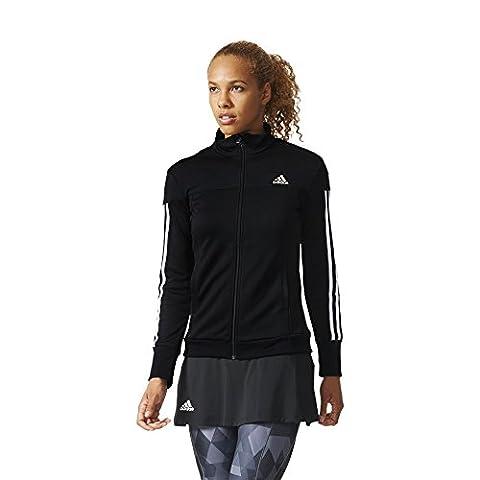 adidas Damen Jacke Club, schwarz/Weiß, S, AI1133