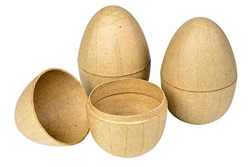 Decopatch Pappmaché Ei Mit Kaninchen Innen Braun Küche