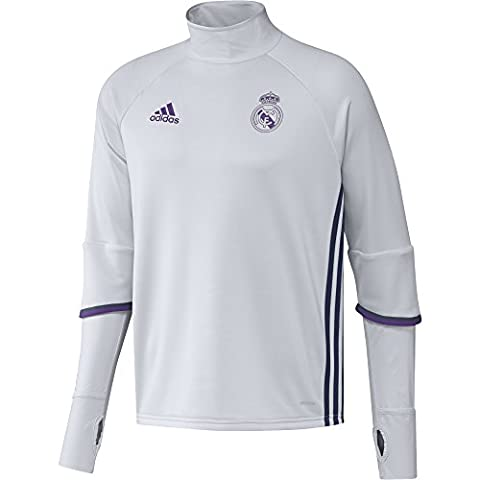 adidas REAL TRG TOP -Sweatshirt - Ligne Real Madrid CF pour Homme, Blanc / Violet - XL, Taille: XL