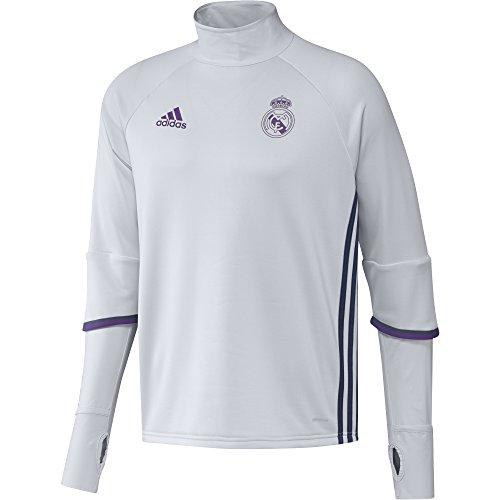 adidas Real Madrid Cf Trg Sudadera, Hombre, Blanco / Morado, XS