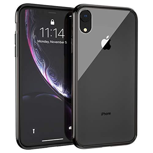 Syncwire Silikon Hülle kompatibel mit iPhone XR, UltraRock Schutzhülle mit fortschrittlichen Fall- Schutz und Luftkissen Safeguard Technologie Handyhülle für iPhone XR, Grau Rand Silikon Iphone-fall