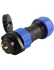 sourcingmap® SD20 20mm 3P bridé Imperméable Aviation Connecteur Câble Prise
