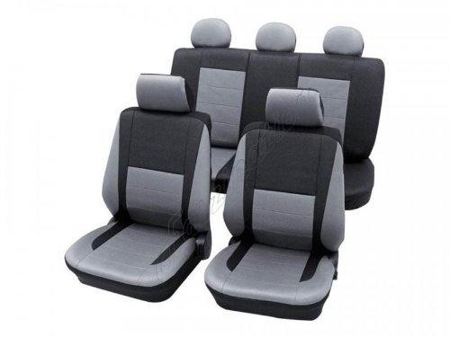 Preisvergleich Produktbild Sitzbezug Schonbezug Autositzbezug, Komplett-Set Volvo S70 / V70, 2er Serie, 3er Serie, 7er Serie, 9er Serie, Silber Grau Anthrazit