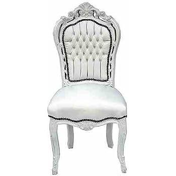 Stühle weiß antik  Casa Padrino Barock Esszimmer Stuhl Weiß/Weiß Lederoptik - Antik ...