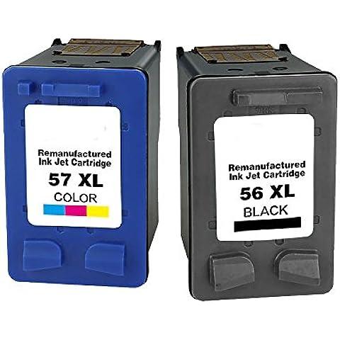 5657Cartucho de tinta para HP 56x l, 57x l para impresora HP Deskjet 450450cbi 450ci 450wbt 514551505151516051685500, 555055515552560056505650V 5650W 5652565558509650967096809680Digital Copier 410, Officejet 2110, color 1Black