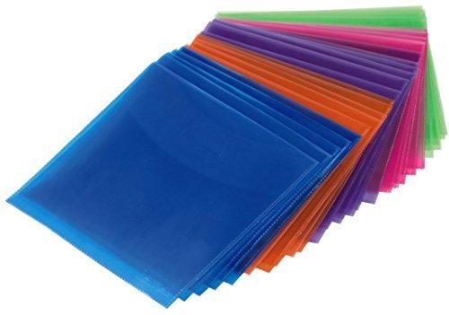 Hama CD-Leerhüllen (50 Stück, auch für DVD und Blu-ray geeignet) CD-Schutzhüllen farbig (Slim Dvd-hüllen Farbig)