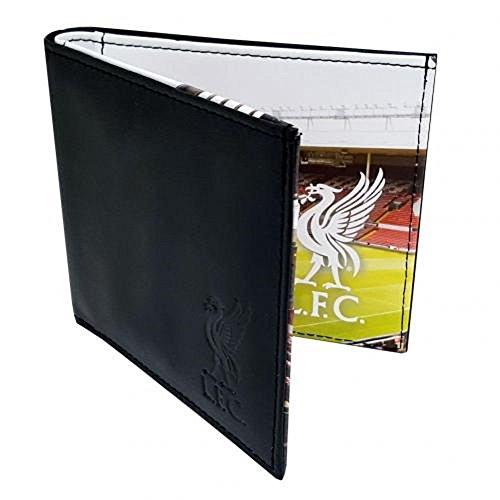 Liverpool FC. Leder Brieftasche mit Panorama Stadion-View Innenseite